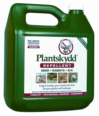 1.32 gal. Jug — RTU Pre-mixed Plantskydd®          Protects approximately 500-600 plants 1 ft. high. Should be used within 3 months of opening the sealed container. Store in cool location. Keep from freezing. Protect from heat.